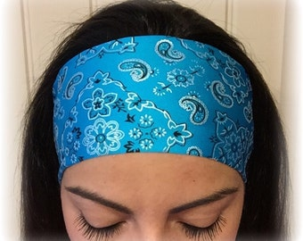 Teal Bandana - Non-slip athletic headband