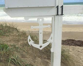 Mailbox Bracket - Anchor Medium 12x16 inch, Custom Mailbox, Coastal, Tropical, Bracket, Outdoor Decor, Mailbox & Post Not Included