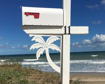 Mailbox Bracket - Palm Tree Original, Large 16x21 inch, Custom Mailbox, Coastal, Tropical, Outdoor Decor, Mailbox & Post Not Included
