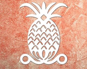 Wall Art, Pineapple Original, Tropical, Outdoor Decor, Housewarming Gift, Custom, Coastal, Nautical, PVC Wall Art, Long Lasting
