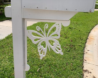 Mailbox Bracket - Butterfly Large 16x21 inch, Custom Mailbox, Coastal, Tropical, Bracket, Outdoor Decor, Mailbox & Post Not Included