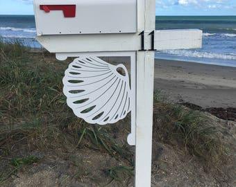 Mailbox Bracket - Seashell Large 16x21 inch, Custom Mailbox, Coastal, Tropical, Bracket, Outdoor Decor, Mailbox & Post Not Included
