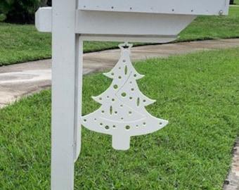 Mailbox Bracket - Christmas Tree Large 16x21 inch, Custom Mailbox, Coastal, Tropical, Bracket, Outdoor Decor, Mailbox & Post Not Included
