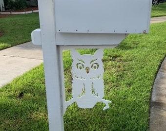 Mailbox Bracket - Owl Large 16x21 inch, Custom Mailbox, Coastal, Tropical, Bracket, Outdoor Decor, Mailbox & Post Not Included