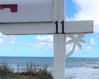 Mailbox Bracket - Palm Tree Original, Small 7x9 inch, Custom Mailbox, Coastal, Tropical, Bracket, Outdoor Decor, Mailbox & Post Not Included