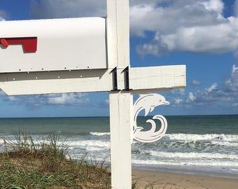 Mailbox Bracket - Dolphin Original Small 7x9 inch, Custom Mailbox, Coastal, Tropical, Bracket, Outdoor Decor, Mailbox & Post Not Included