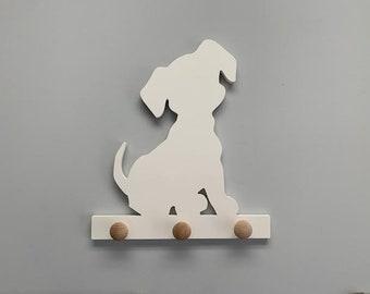 Coat Rack - Puppy Cute Design Coat Rack, Entryway Organizer, Key Holder, Leash Holder, Leash Hook, Leash Hanger, Dog Leash, Custom Gift