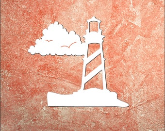 Wall Art, Lighthouse, Tropical, Outdoor Decor, Housewarming Gift, Custom, Coastal, Nautical, PVC Wall Art, Long Lasting