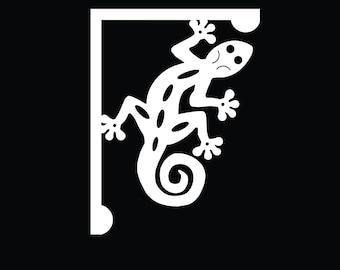 Mailbox Bracket - Gecko Lizard Large 16x21 inch, Custom Mailbox, Coastal, Tropical, Bracket, Outdoor Decor, Mailbox & Post Not Included