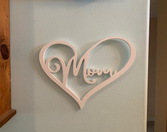 Wall Art, Mom Heart Ships Free to mainland USA. Always Long Lasting & Fabulous!