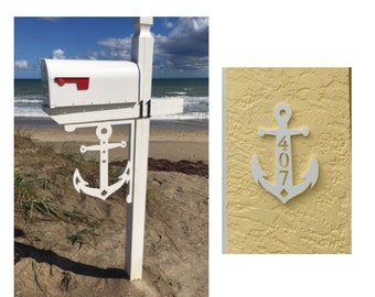 SAVE ON SETS! Anchor Original, Mailbox Bracket and House Number Plaque - Large Bracket 16 x 21 inches, Plaque 9 x 14 inches (approx)