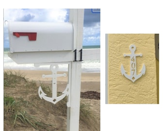 SAVE ON SETS! Anchor Original, Mailbox Bracket and House Number Plaque - Medium Bracket 12 x 16 inches, Plaque 9 x 14 inches (approx)