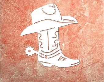 Wall Art, Cowboy Boot, Tropical, Outdoor Decor, Housewarming Gift, Custom, Coastal, Nautical, PVC Wall Art, Long Lasting