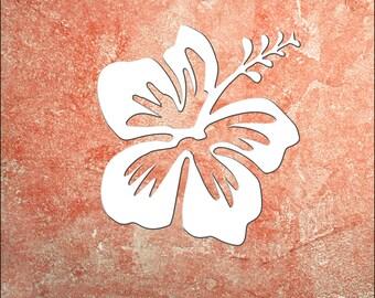 Wall Art, Hibiscus, Tropical, Outdoor Decor, Housewarming Gift, Custom, Coastal, Nautical, PVC Wall Art, Long Lasting
