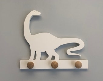 Coat Rack - Dinosaur Diplodocus Design, Robe Hook, Apron Hook, Hat Rack, Wall Hook, Entryway Organizer, Free Shipping to Mainland USA