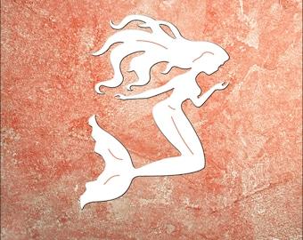 Wall Art, Mermaid W/Starfish, Tropical, Outdoor Decor, Housewarming Gift, Custom, Coastal, Nautical, PVC Wall Art, Long Lasting