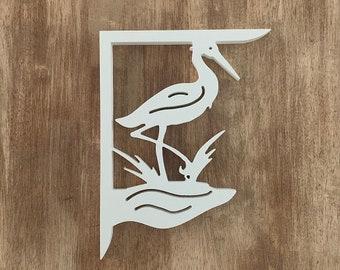 Mailbox Bracket - Heron Small 7x9 inch, Custom Mailbox, Coastal, Tropical, Bracket, Outdoor Decor, Mailbox & Post Not Included