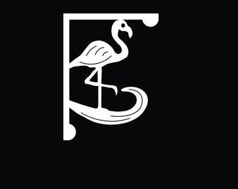 Mailbox Bracket - Flamingo Medium 12x16 inch, Custom Mailbox, Coastal, Tropical, Bracket, Outdoor Decor, Mailbox & Post Not Included