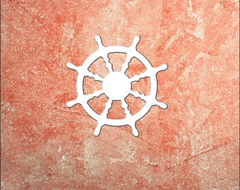 Wall Art, Ship's Wheel, Tropical, Outdoor Decor, Housewarming Gift, Custom, Coastal, Nautical, PVC Wall Art, Long Lasting