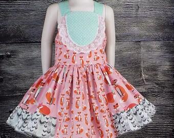 f5331bf6c Girls Fox Dress Toddler Woodland Dress Baby Fall Dress