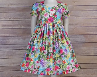 Spring Dress, Girls, Easter Dress, Floral, Short Sleeves, Flowers, Pastel, Zipper, Outfit, Toddler, Teen, Church, Pictures, Bunny, Birthday