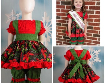 Christmas Beauty Pageant Outfits.Christmas Pageant Wear Etsy