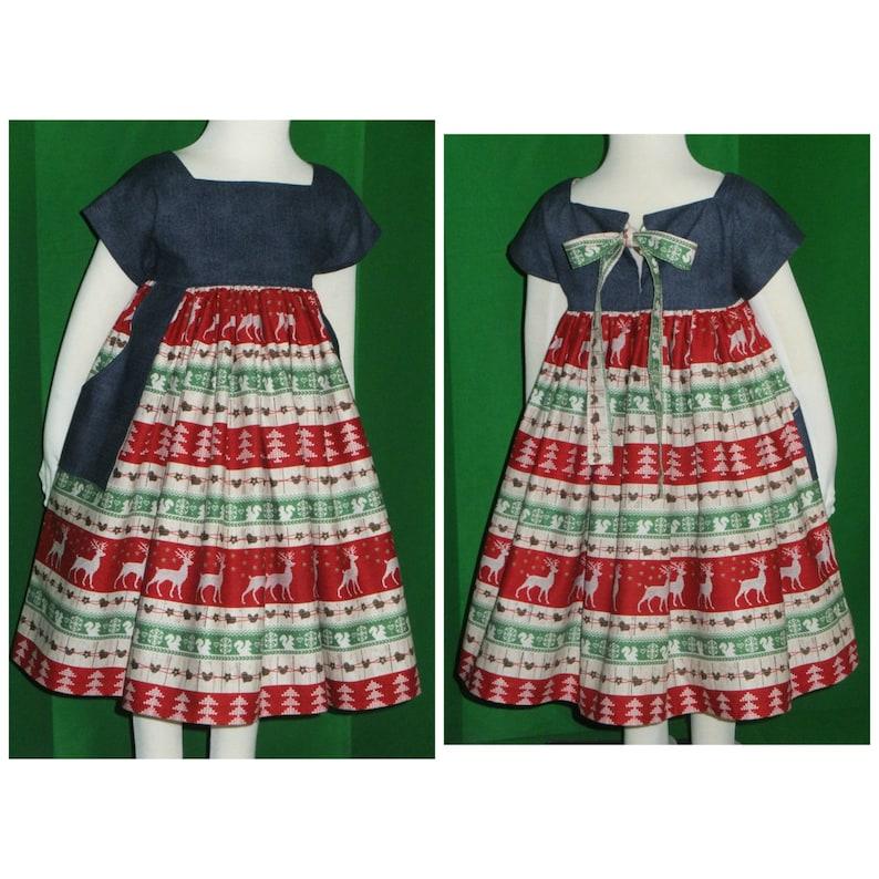 78426ef9438d Girls Christmas Dress Toddler Boho Tween Junior Winter | Etsy