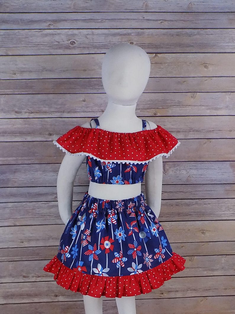 Skirts Lovely Patriotic Fourth Of July Skirt Toddler Girls Size 2t Red White Blue Ruffles Lace Girls' Clothing (newborn-5t)