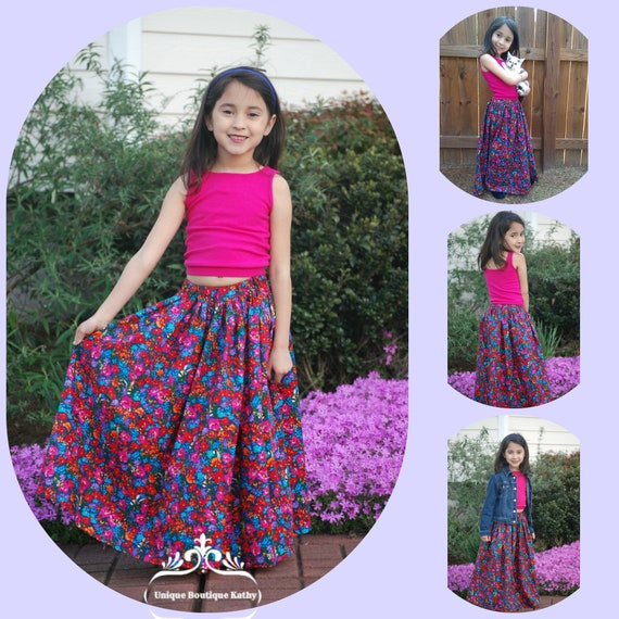 38103caca9 Girls Long Skirt Maxi Skirt Beach Photo Shoot Boutique