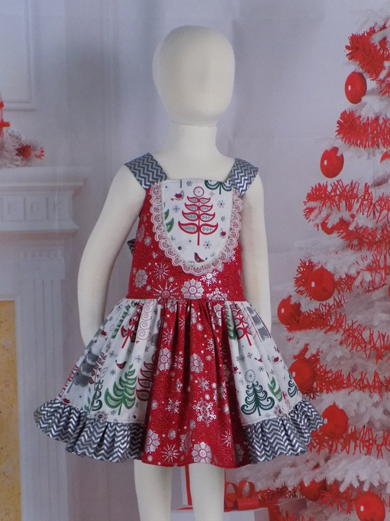 f5dd88145492e Girls Christmas Dress Toddler Outfit Teen Holiday Dress | Etsy