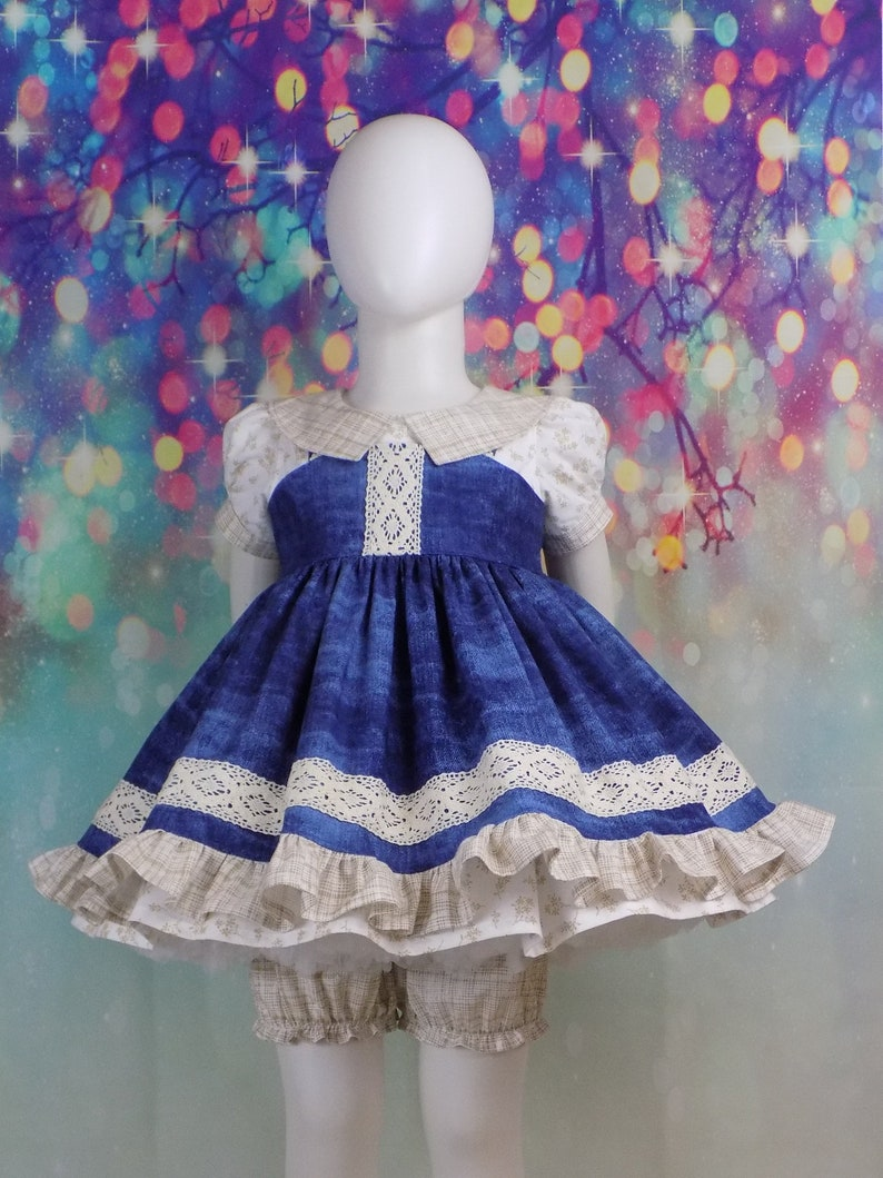 31a4d014bb2 Denim Lace Dress Girl Western Wear Pageant OOC Outfit