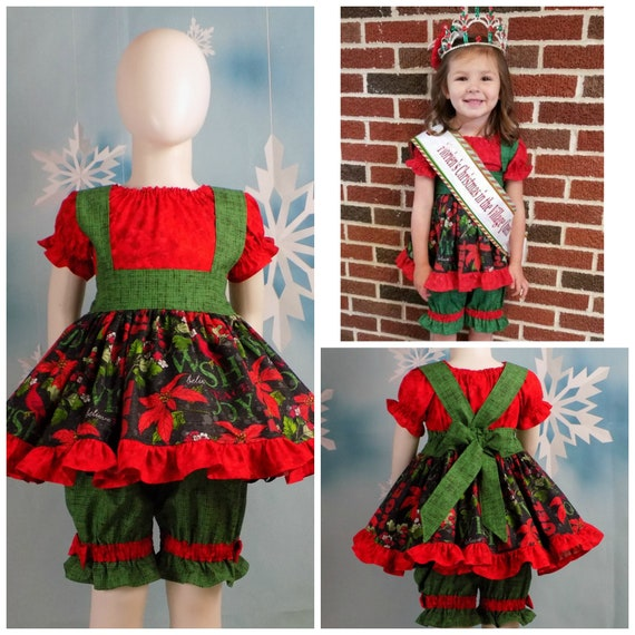 Noel Tunic boutique dress holiday red black girls plaid reindeer long sleeved