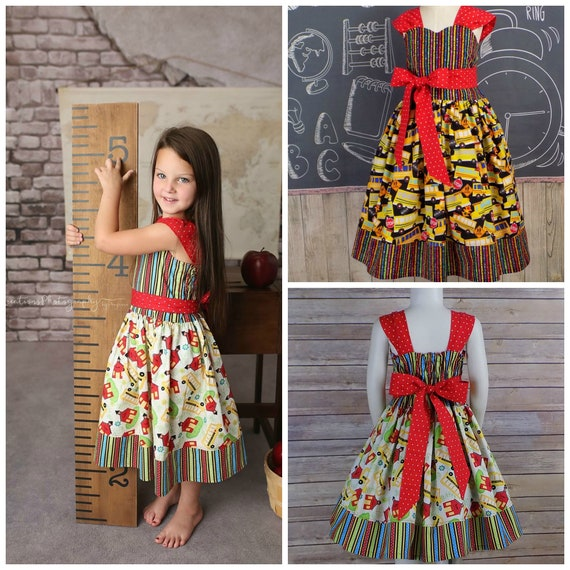 Girls School Dress Outfit Back to School Clothing First  8e18db1c19