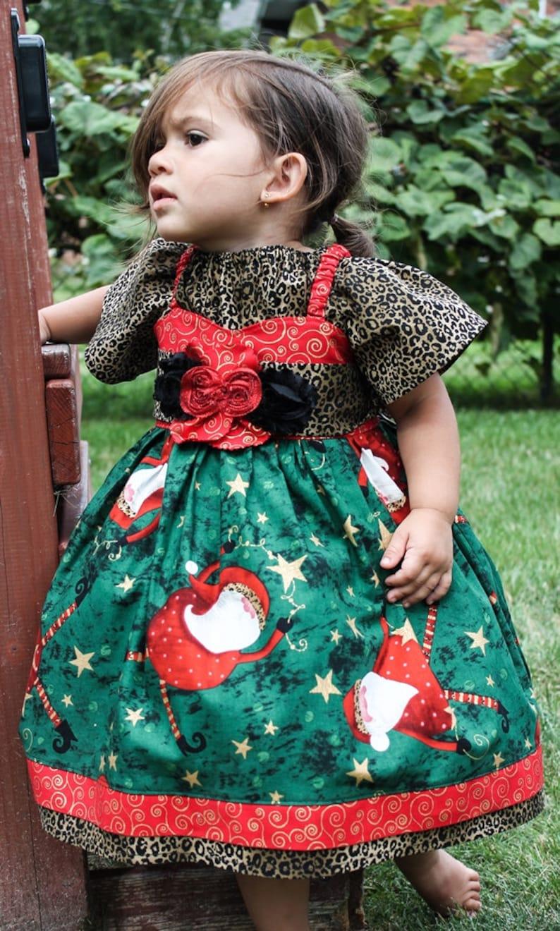 1ceccce1e0ad 3T Christmas Dress READY to SHIP Toddler Santa Dress | Etsy