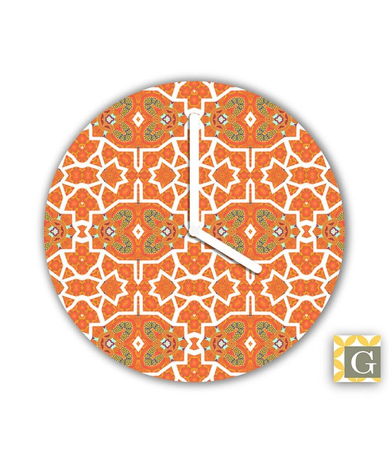 Wall Clock by GABBYClocks Sepia Birds Petite