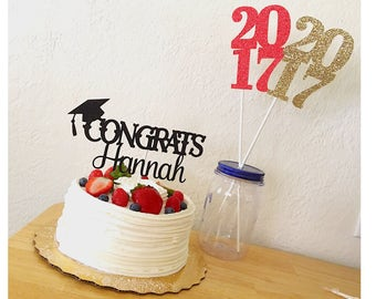 Graduation Cake Topper 2018, Personalized graduation cake topper, Class of 2018, 2018 decoration, 2018 Graduation cake topper- 1 cake topper