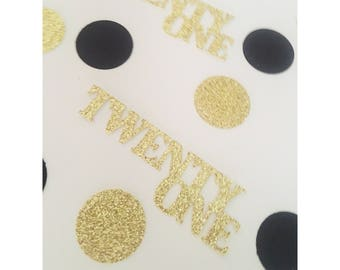 Deluxe 21 Birthday confetti, twenty one confetti, glitter confetti, party decorations, 40th birthday, forty birthday decorations