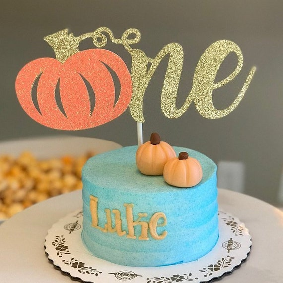Admirable One Pumpkin Cake Topper Pumpkin Birthday Our Little Etsy Funny Birthday Cards Online Alyptdamsfinfo