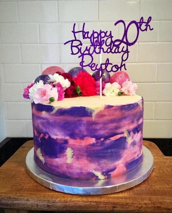 Strange Personalized Birthday Cake Topper Custom Cake Topper Etsy Personalised Birthday Cards Petedlily Jamesorg
