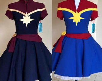 Captain Marvel Costume Etsy Buy captain marvel carol danvers cosplay costumes, we sell captain marvel cosplay costumes all over the world, fastest delivery, 24/7 online service! captain marvel costume etsy