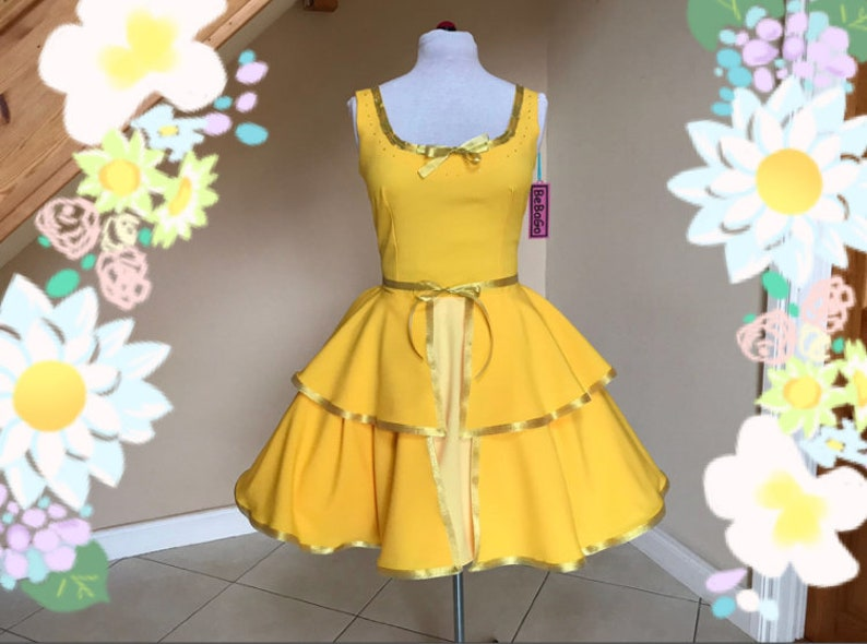 Belle Dress Princess Belle Inspired Dress Beauty And The Beast Inspired Belle Costume