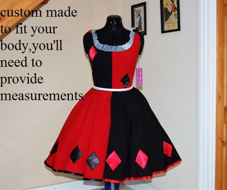 Cosplay dress inspired by Harley Quinn Dress   MADE TO MEASURE!!