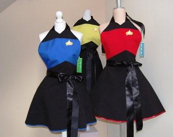 star trek cosplay aprons ,Trekkie apron fandom apron