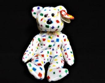 5b62cb6d454 Ty Beanie Baby Ty 2K (tm) Confetti Bear with errors