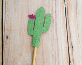 Cactus Cupcake Toppers - Cactus Donut Toppers, Cacti Party Topper, Boho Wedding Cake, Birthday Party Pick, Desert Party Decor, Cinco de Mayo