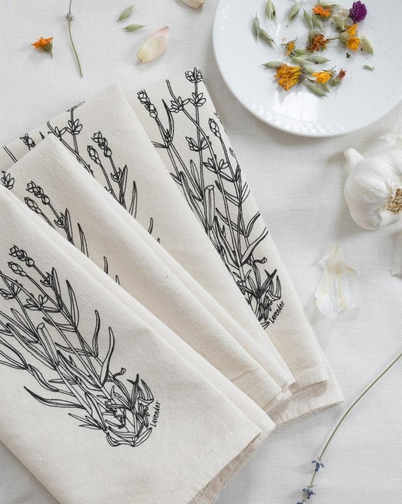 Cloth Napkins  Organic Cotton  Set of 4  Lavender  Cotton image 0