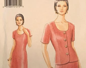 Vogue 9220 - Very Easy Twin Set with Sheath Dress and Short Sleeve Jacket - Size 6 8 10