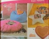 Simplicity 5105 Pattern UNCUT Simply Teen Retro 1960s Easy Pillows Andrea Schewe Throw Pillow Bean Bag Chair Foot Stool Pocket Flower