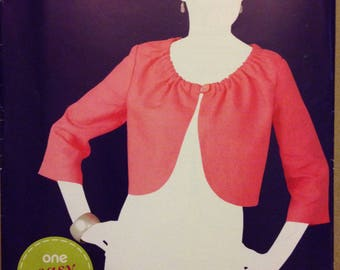 Simplicity 1973 Lined Shrug Bolero Jacket with Gathered Neckline and Button Loop Closure - Size 10-22