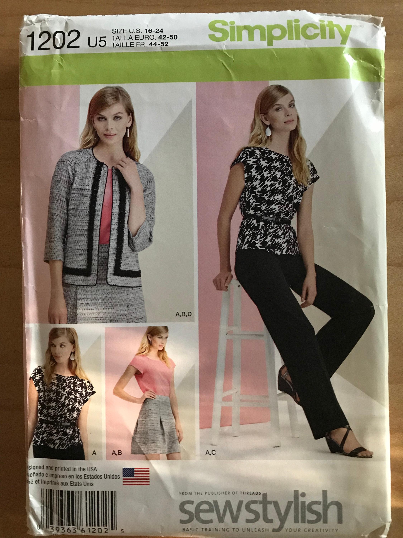 419e8843628af Simplicity 1202 Pattern Sew Stylish Wardrobe Coordinates | Etsy